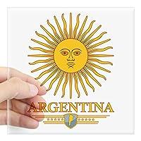 """CafePress–アルゼンチンSunステッカー–Squareバンパーステッカー車デカール、3"""" x3"""" ( Small )または5"""" x5"""" ( Large ) Large - 5x5 0881806969619CE"""