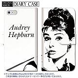 301-sanmaruichi- Xperia Z3 ケース Xperia Z3 カバー エクスペリア Z3 ケース 手帳型 おしゃれ Audrey Hepburn オードリー・ヘップバーン オードリー A 手帳ケース SONY