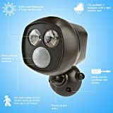 CrazyFire 乾電池式 LEDライト 門扉ライト 人感センサーライトと2*3wLED電球内臓(防水、防犯、屋外仕様)取り付け簡単、取り外し可能 並行輸入品