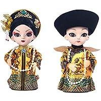 クリエイティブなかわいい皇帝の工芸北京オペラ人形の装飾