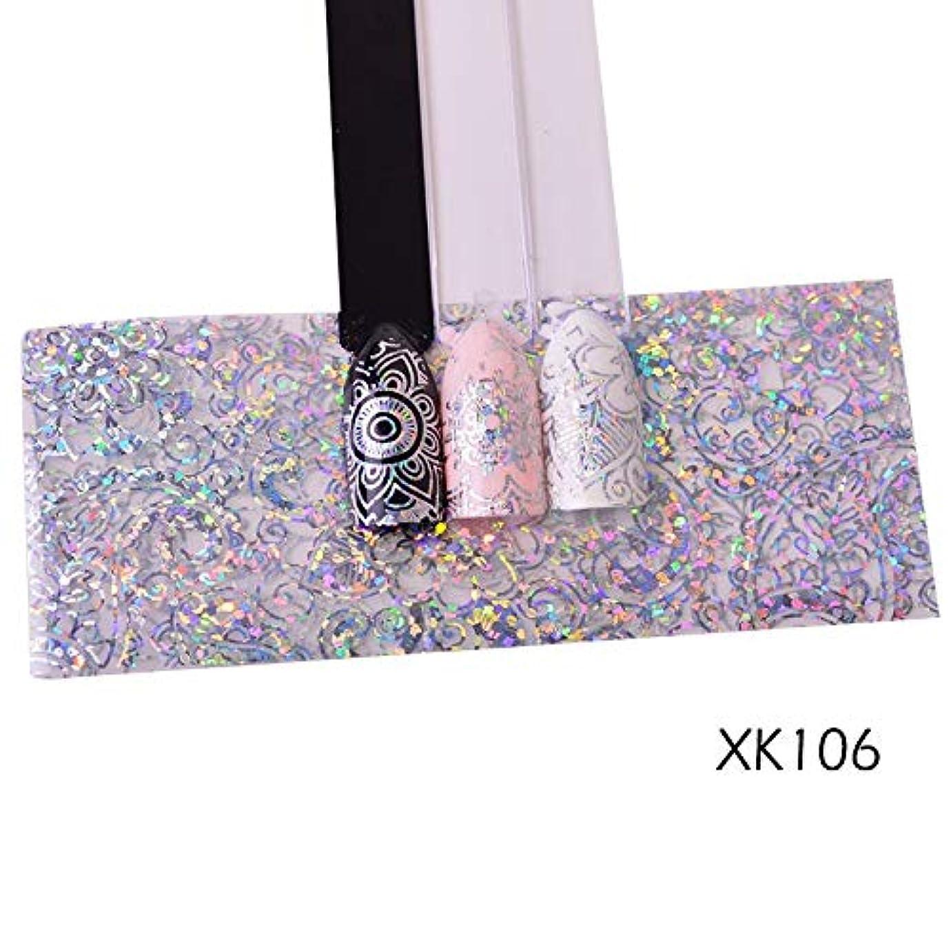 チロ構造超える100センチレーザーネイル箔ステッカーホログラフィック花光沢のあるデザイン星空転写紙マニキュアネイルアートの装飾SAXK98-109 XK106