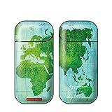 iQOS アイコス 専用スキンシール 裏表2枚セット カバー ケース 保護 フィルム ステッカー デコ アクセサリー 電子たばこ タバコ 煙草 喫煙具 デザイン おしゃれ アイコスシール iQOSシール World Mapシリーズ World Map 08 06-iq0272