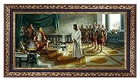 """ジェームズ・Seward """" What is Truth """" Religious Limited Edition and署名キャンバスGiclee額装アートプリント( 38"""" x 68"""" )"""