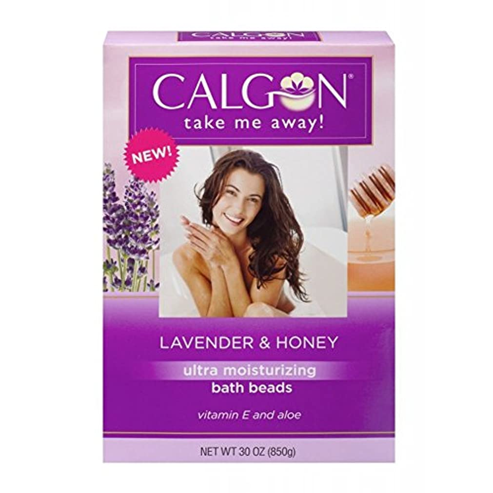 砂利陽気な一晩Calgon 超保湿入浴ビーズ(ラベンダーと蜂蜜、30オンス)