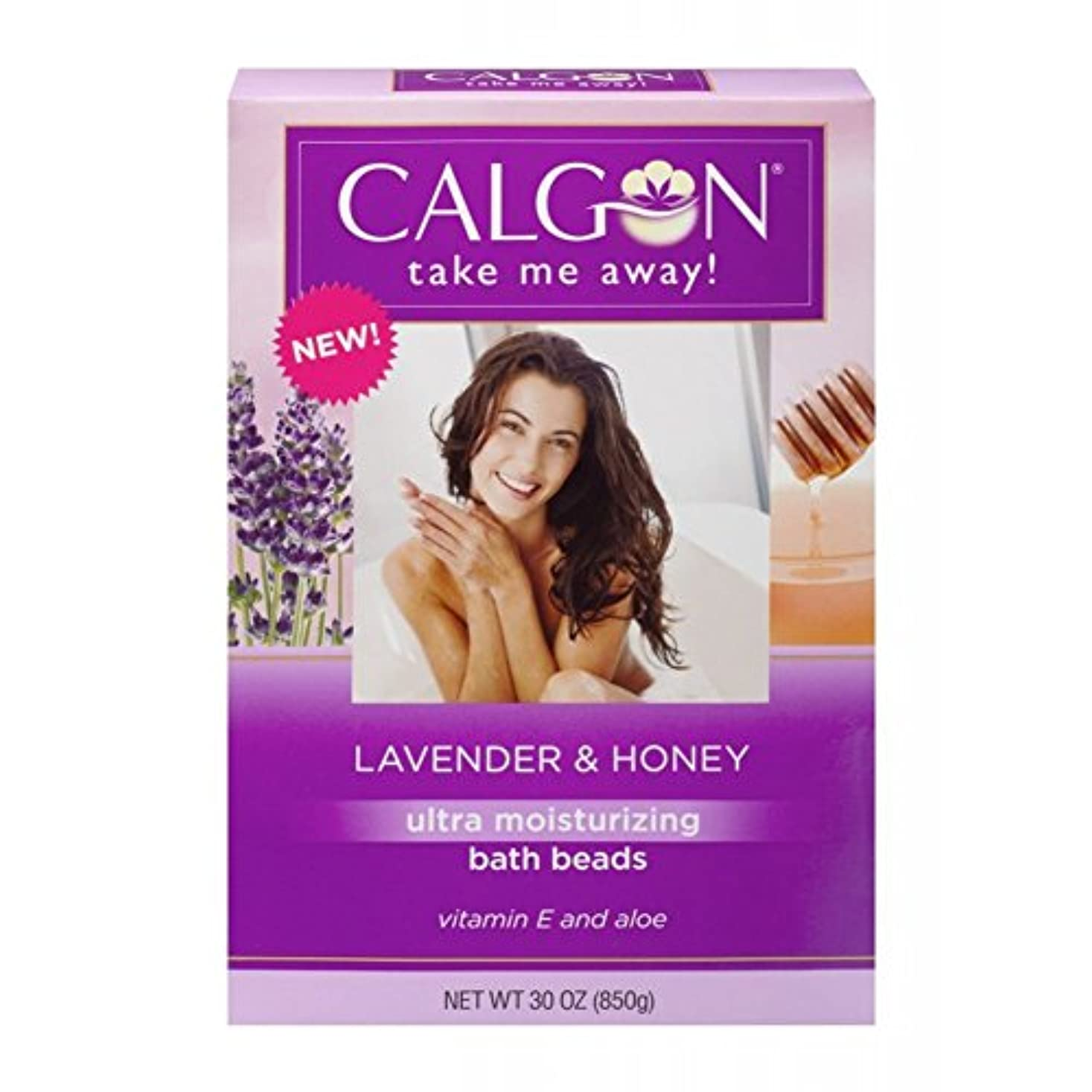 Calgon 超保湿入浴ビーズ(ラベンダーと蜂蜜、30オンス)