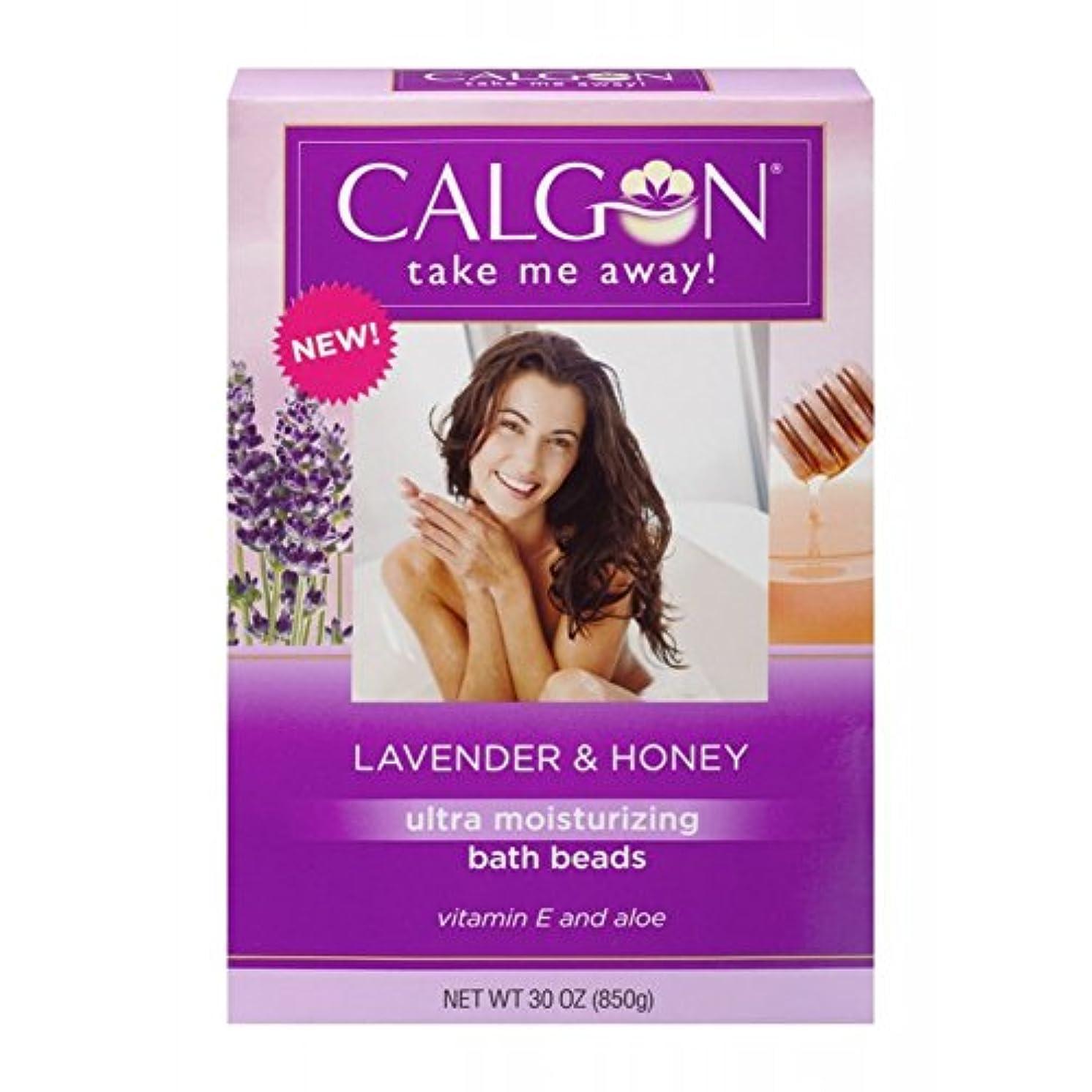 発明するパーティション土Calgon 超保湿入浴ビーズ(ラベンダーと蜂蜜、30オンス)