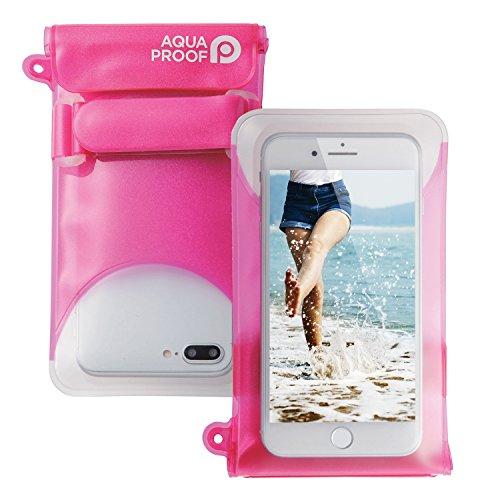 エレコム スマートフォン用防水・防塵ケース/セルフィー特化/Lサイズ/ディープピンク P-WPSS02PND 1個