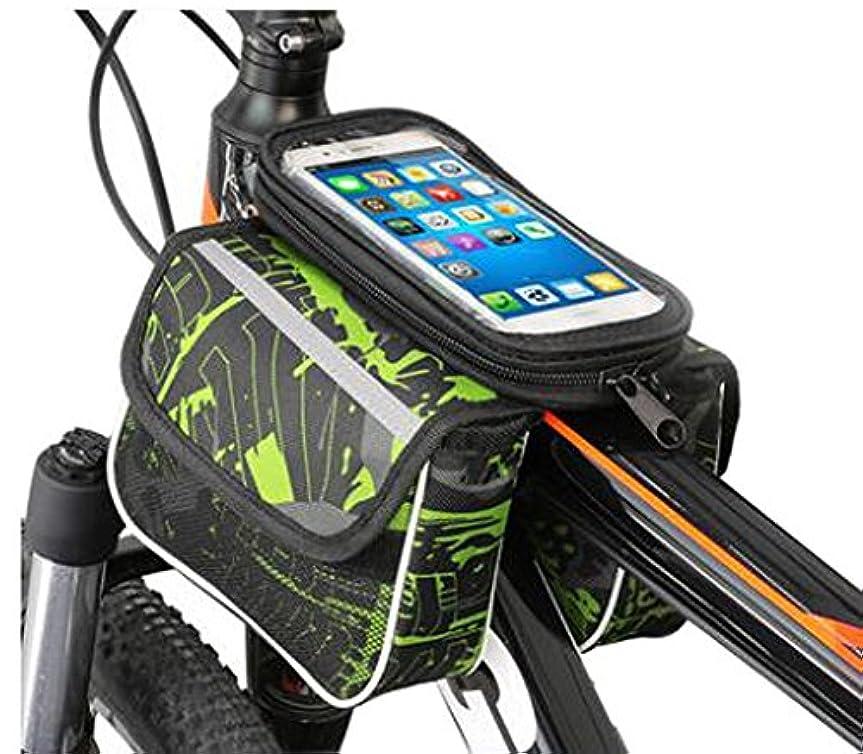 カリキュラム引退した窒素バイクバッグカラフルなサイクリングハンドルバーパッケージ6インチの電話多機能バイクアクセサリー#1