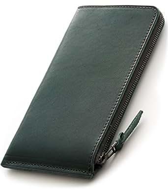 SYRINX 【厚い革 の 薄い財布】 本革 長財布 《単》 (Agave)