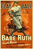 Play Ball with Babe Ruth 27 x 40映画ポスター – スタイルA Unframed 380309