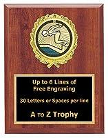 水泳Plaque Awardsメス7x 9木製スポーツトロフィーSwim Meet Trophies Free Engraving