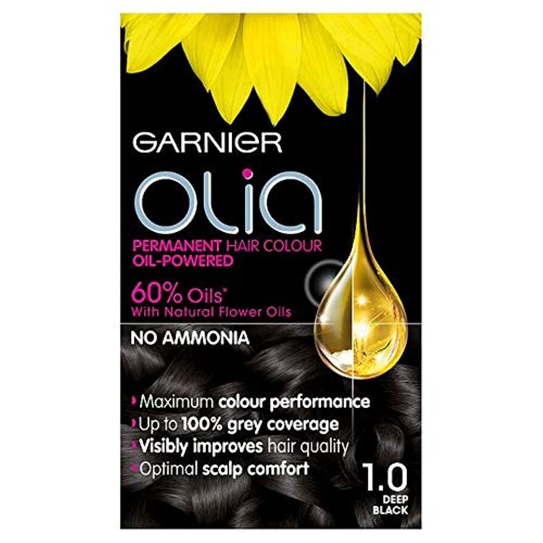 養うただブラケット[Garnier] 1.0深い黒のパーマネントヘアダイOliaガルニエ - Garnier Olia 1.0 Deep Black Permanent Hair Dye [並行輸入品]