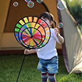 OUTDOOR PRODUCTS Generic Supply Fashion Unique Design Rainbow Colorful Windmill Toy for ld Camping Outdoor Garden Decoration Promotional Product
