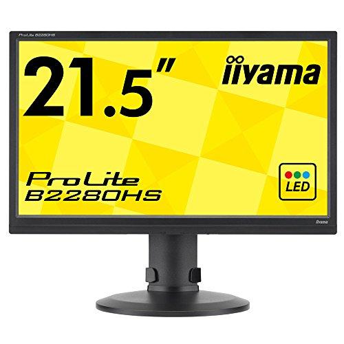 iiyama モニター ディスプレイ B2280HS-B1 (21.5インチ/フルHD/TN/HDMI,D-sub,DVI-D/昇降/ピボット/3年保証)