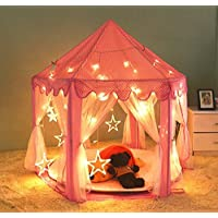 PortableFun Hexagon Indoor Princess Castle Play Tent 55-Inch Dia x 53-Inch Height [並行輸入品]