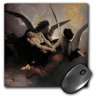 3drose LLC 8x 8x 0.25インチマウスパッド、A Soul Brought to Heaven byブーグロー(MP 127234_ 1)