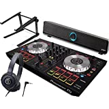 PIONEER DJスタートセット DDJ-SB2 + ATH-S100BK + Soundber + PCスタンド