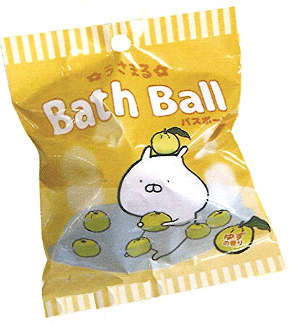 安らぎレクリエーションセッションうさまる 入浴剤 マスコットが飛び出るバスボール【1個】