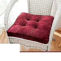 座布団,暖かい シートクッション とろみ 椅子のパッドとのつながり オフィス用シート クッション 床 ベイウィンドウ 畳 学生スツール ソファ ベンチ クッション-D 48*48cm