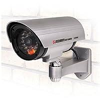 ハック ドア周り防犯用品 シルバー W24×D8.5×H16cm LED点灯 防犯 ダミーカメラ hac1881