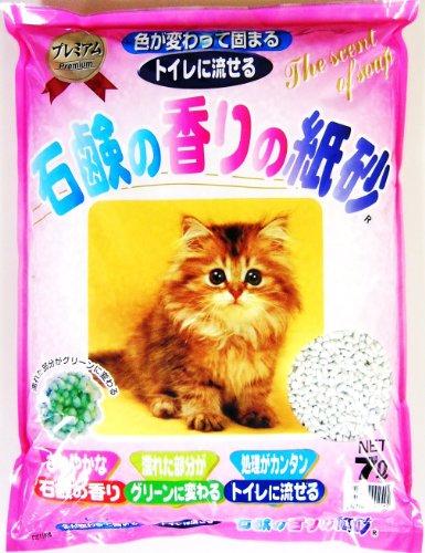 猫砂 石鹸の香りの紙砂   7L