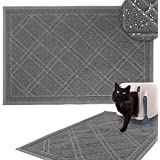 Downtown Pet Supply Non-Slip Padded Mesh Kitty Litter Mat Trapping Tray for Cats and Kittens (Grey, Medium)