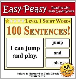 amazon level 1 sight words 100 sentences with 50 word flash