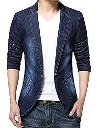 (ネルロッソ) NERLosso テーラードジャケット メンズ デニム ブレザー テーラード ジャケット ボタン ビジネス カジュアル 長袖 大きいサイズ cmc24550