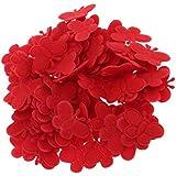 Perfeclan 約100個 ミニ バタフライアップリケ ナイロン ベビーシャワー 蝶 アプライド ベビー おもちゃ DIY 工芸品 装飾  全4色 - 赤