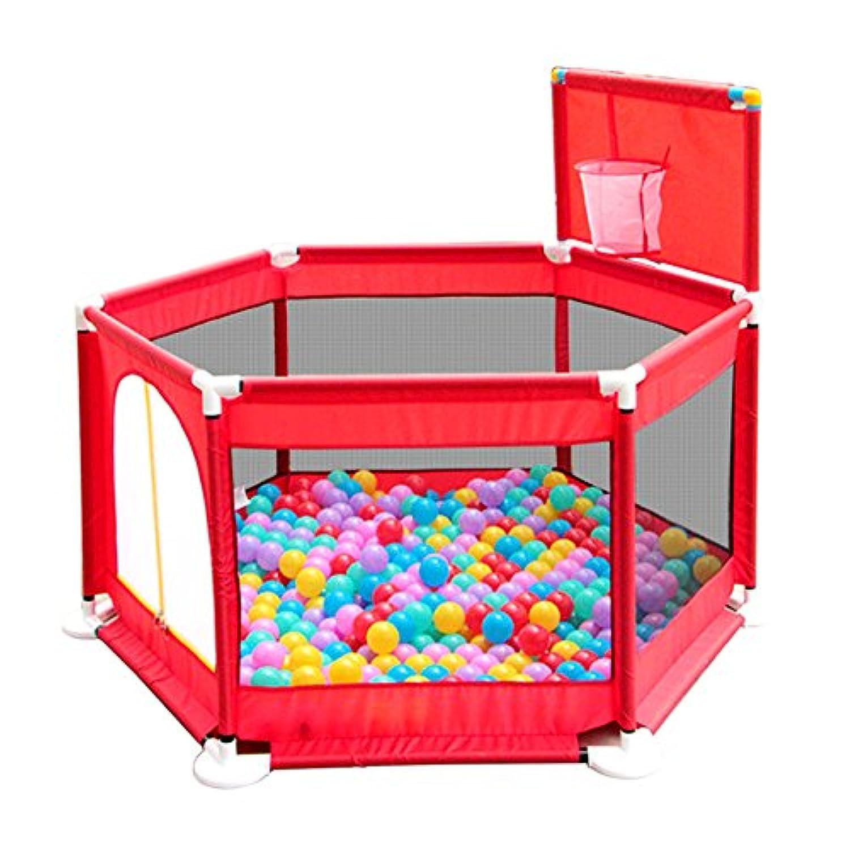 子供のプラスチック6パネル屋内屋外庭の安全活動エリアでボールの赤ちゃんの遊び場 (色 : 200 balls)