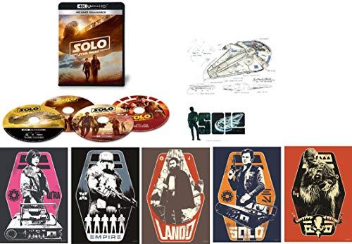 【Amazon.co.jp限定】ハン・ソロ/スター・ウォーズ・ストーリー 4K UHD MovieNEX(4枚組)  A4ポスター5枚組、ステッカーシート1枚、ポストカード1枚付き [4K ULTRA HD+3D+Blu-ray+デジタルコピー+MovieNEXワールド]