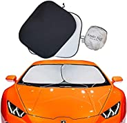 kinder Fluff Car Windshield sunshade-210T for Ultimate uv/Sun Protection for car - windshield sun shade (XL)