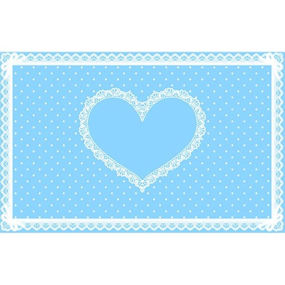 正統派変装花束シリコンネイルマット ブルー
