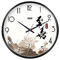 18-AnyzhanTrade ウォールクロックサイレントムーブメントウォールクロックホームオフィスインテリアリビングルームベッドルームとキッチンクロックウォールサイレントテーブルクォーツ時計 (Color : Black -435, サイズ : 12 In.)