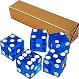 (Blue) - Trademark Poker 19mm A Grade Serialised Set of Casino Dice
