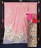 新品仕立上り 振袖6点セット 振袖・袋帯・長襦袢・帯揚げ〆・重ね襟セット☆裄長・トールサイズ