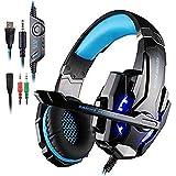 KOTION EACH ゲーミング ヘッドセット ブラック&ブルー 3.5mm G9000