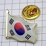 ピンバッジ はためく 韓国 国旗 ピンズ ピンバッチ 大韓民国
