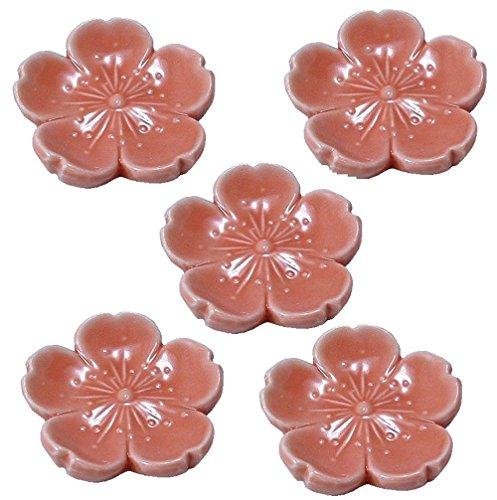 京焼 清水焼 幸風 箸置 5個セット 茜桜 HOX217