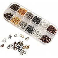 840pcs Metal Jump Rings + 120pcs Lobster Clasps Making Jewelry Findings with Box
