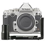 FIRST2SAVVV ブラック 金属製 L型クイックリリースプレートブラケット ハンドグリップ Nikon DF 用 Arca-Swiss標準に対応 - LLX-SS..