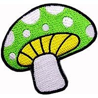 WAPPEN/アイロン貼付ワッペン きのこ・/マッシュルームC (グリーン)