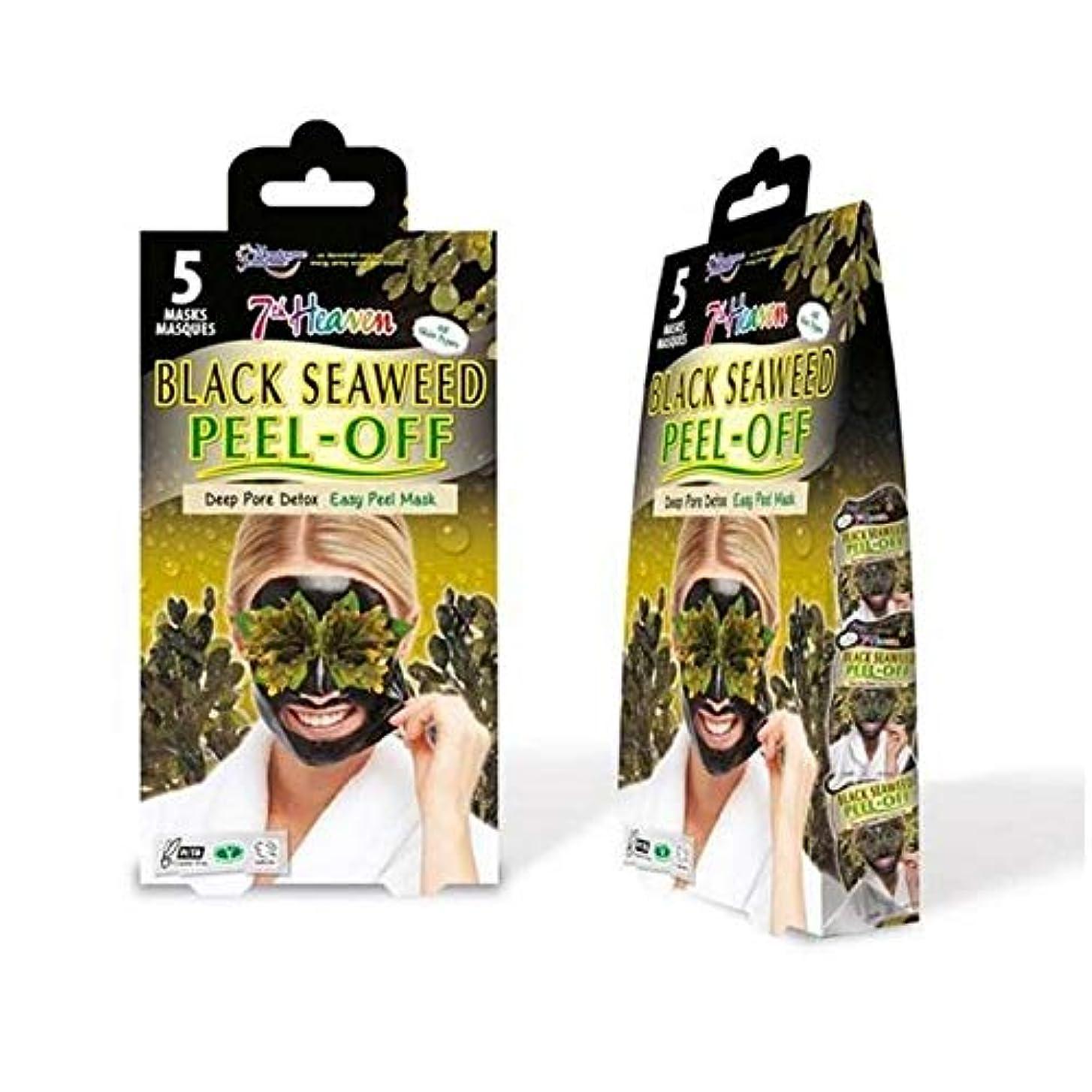 ハチディスカウント雹[Montagne Jeunesse] モンターニュジュネス第七天国黒海藻マスクマルチパックをはがし - Montagne Jeunesse 7th Heaven Black Seaweed Peel Off Mask...