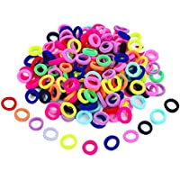 Hicarer 200 Pieces Assorted Colors Mini Hairbands Girl Baby's Elastic Hair Ties Tiny Soft Rubber Bands for Baby Kids