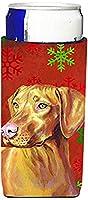 Caroline 's Treasures lh9325-parent Vizsla赤と緑Snowflakes HolidayクリスマスUltra Beverage Insulators forスリム缶lh9325muk、、マルチカラー Slim LH9325MUK