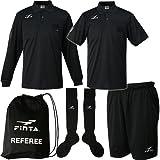 [フィンタ] サッカー 審判 レフリー4点セット 005/ブラック FT6511