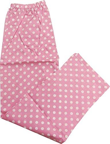 morikyu13 子どもパジャマ【春物・秋物】綿100% 水玉柄 日本製(130, ピンク)