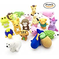 jialeeyのセット20パズルTake Apart消しゴム動物園動物Collectible鉛筆消しゴムToys Variety with No Duplicates Fun and Games for Ages 3and Upキッド少年少女ギフト