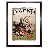 Magazine Cover Jugend Germany Giant Slayer Sword Spear Framed Wall Art Print 雑誌の表紙カバードイツ壁