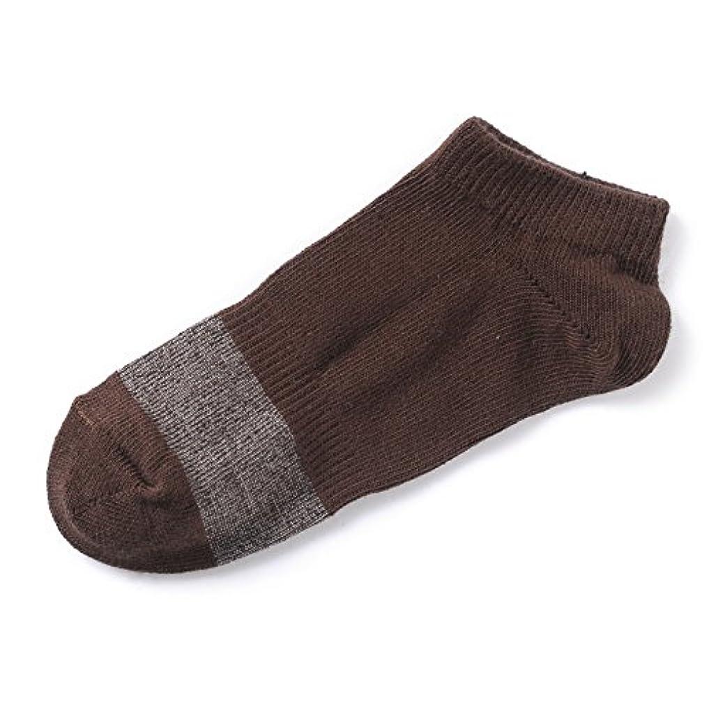 疫病実施する最少ストッパー付靴下 ブラウン